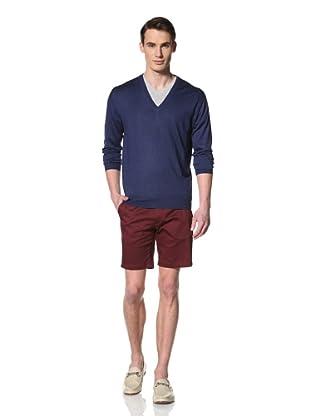 De Corato Men's V-Neck Knit (Blue)