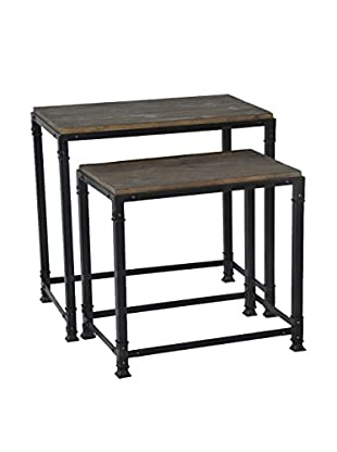 Luxury Home Cirque Accent Set Of 2 Nesting Tables, Grey