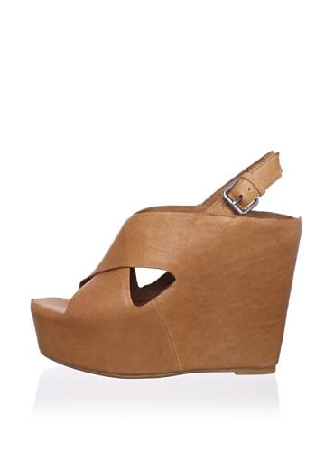Dolce Vita Women's Julie Wedge Sandal (Tan Leather)
