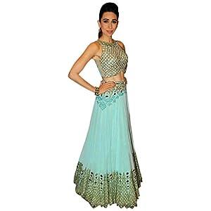 S360_new Fancy Karishma Cyan Lahanga Choli