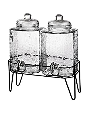 Style Setter Hamburg Set of 2 Beverage Dispensers with a Stand