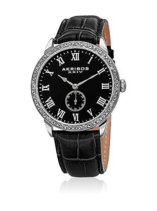 Akribos XXIV Uhr mit japanischem Quarzuhrwerk  schwarz 42 mm