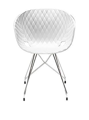 Metalmobil Stuhl Unika-596 weiß/chrom