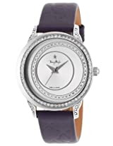 Women'S Blue Genuine Leather Silver-Tone Dial (4715103)