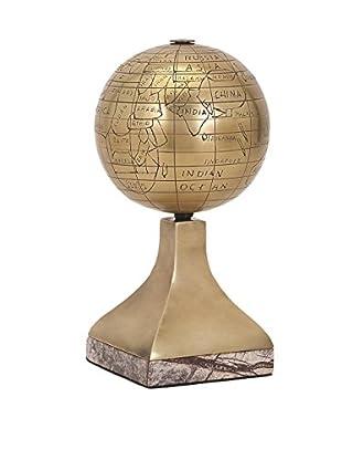 Beth Kushnick Globe with Stone Stand, Bronze