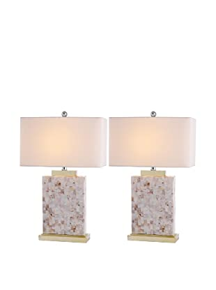 Safavieh Set of 2 Tory Shell Table Lamps