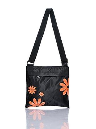 H.Due.O Borsa Hippy Flowers Saffiano Arancio
