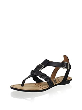 Matiko Women's Lucca Braided Thong Sandal (Black)