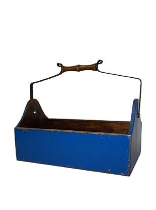 Antique Revival Wooden Vegetable Bucket, Blue