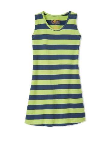 Soft Clothing Girl's Orleans Shift Dress (Green)