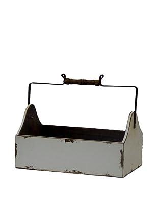 Antique Revival Wooden Vegetable Bucket, White