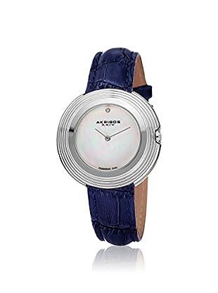 Akribos XXIV Women's AK876SS Velvet Blue Leather Watch
