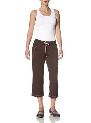 New Balance Yoga Women's French Terry Capri Pants (Coffee)