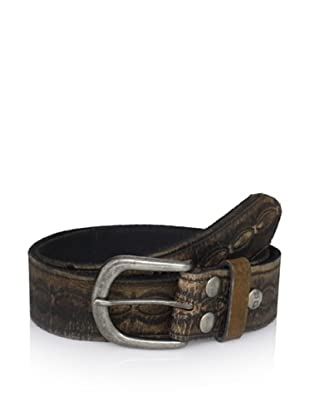 Bed Stu Unisex Ariel Embossed Leather Belt (Black)