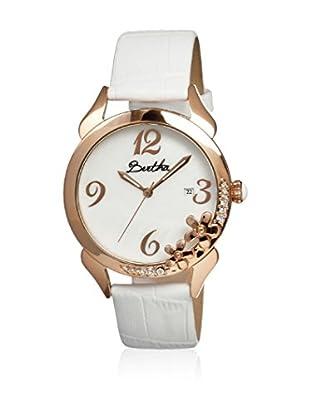 Bertha Uhr mit Japanischem Quarzuhrwerk Daisy weiß 41 mm
