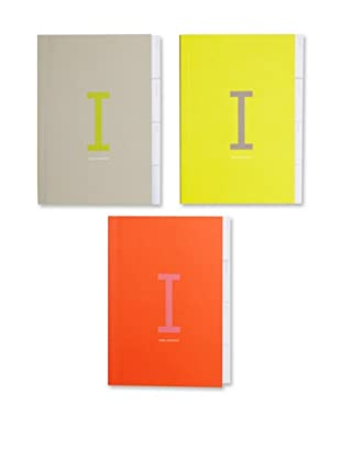 russell+hazel Set of 3 Index Notebooks (Multi)