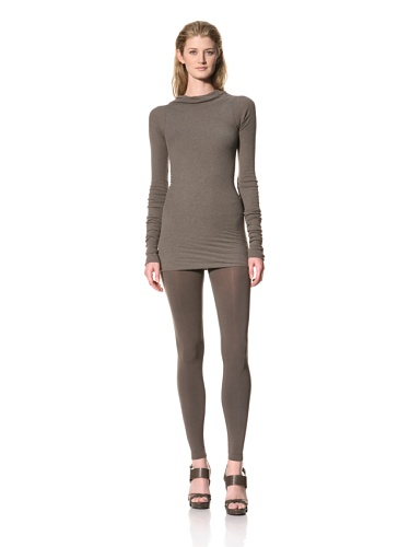 RICK OWENS Women's Long Sleeve Boatneck Top (Darkdust)