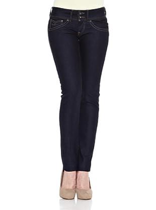 Pepe Jeans London Pantalón Vaquero Brooke (Azul Oscuro)