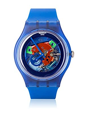 Swatch Quarzuhr Unisex INDIGO LACQUERED SUON101 41 mm