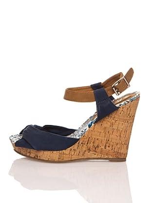 Refresh Sandalias Textil (Azul Marino)