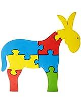 Skillofun Take Apart Puzzle Large - Donkey, Multi Color