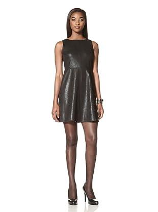Donna Morgan Women's Millie Jewel Neck Dress (Black)