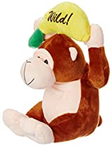 Dimpy Stuff Monkey with Banana, Brown