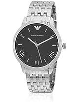 Ar1614 Silver/Black Analog Watch