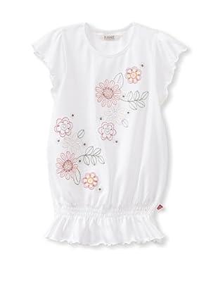 KANZ Girl's Cap Sleeve T-Shirt (White)