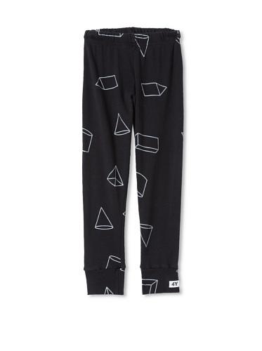 NUNUNU Kid's Geometry Leggings (Black)
