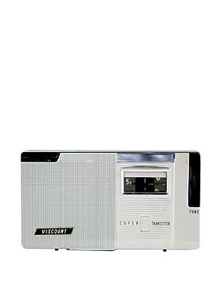 Vintage Viscount Radio, Silver