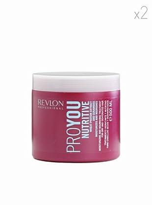 Revlon  Set 2 Pro You Tratamientos Hidratante con Extracto de trigo y lípidos naturales 500  ml