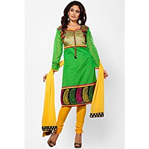 Green Embroidered Dress Material Touch Trends