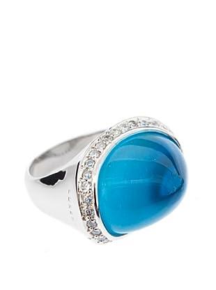 Luxenter Anillo Tessalit Azul Topacio Cuarzo
