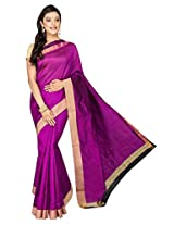 Korni Cotton Silk Banarasi Saree DS-1530- Purple KR0477