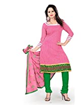 Livaaz Womens Cotton Unstitched Dress Material (Sf100531 _Pink)