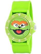 Sesame Street Unisex SW4920OS Oscar the Grouch Sport Bezel Green Slap Watch