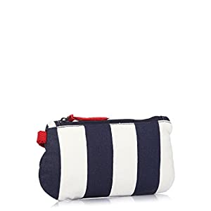 Be For Bag Canvas Clutch - Blue & White