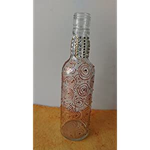 Artiliciously Your'S Bronze Bottle2 Painting On Recycled Glass Bottle