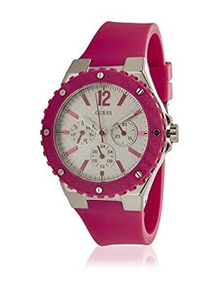 Guess Quarzuhr Woman W90084L2 silberfarben/pink 38 mm
