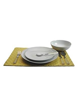 Table Set 48 Pezzi Tavola (Bianco/Giallo)