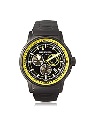 MOMODESIGN Men's MD2164BK50-MB Pilot Black/Yellow Black PVD Watch