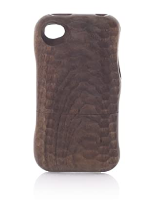 Real Wood iPhone 4/4S Case, U-Shaped Knife, Walnut