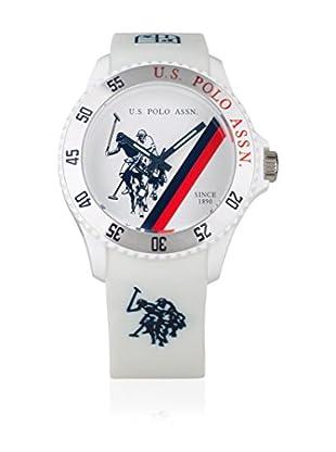 U.S. POLO ASSN. Uhr mit japanischem Quarzuhrwerk Cooper weiß 44 mm