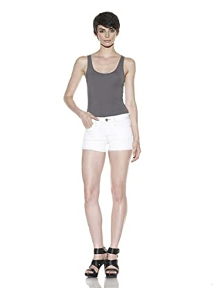 Habitual Denim Women's Teri Cuffed Shorts (White Wash)