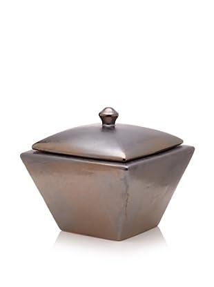 Pacific Décor Taper Longfire Pot, Metallic Black
