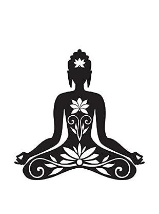 Ambiance Live Wandtattoo ZEN Sitting buddha schwarz