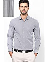 Striped Black Formal Shirt