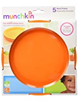 Munchkin 5 Pack Multi Plates  (Assorted Colors)