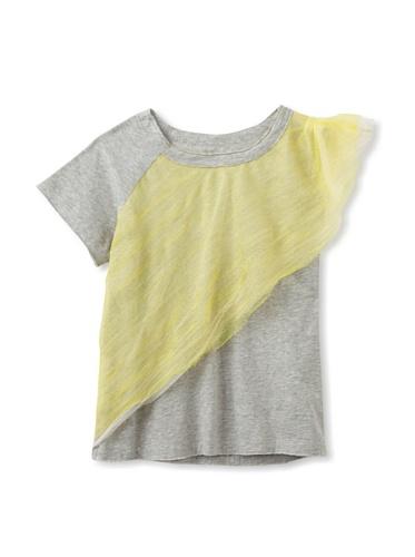 kicokids Girl's Jersey Cape Tee (Grey)